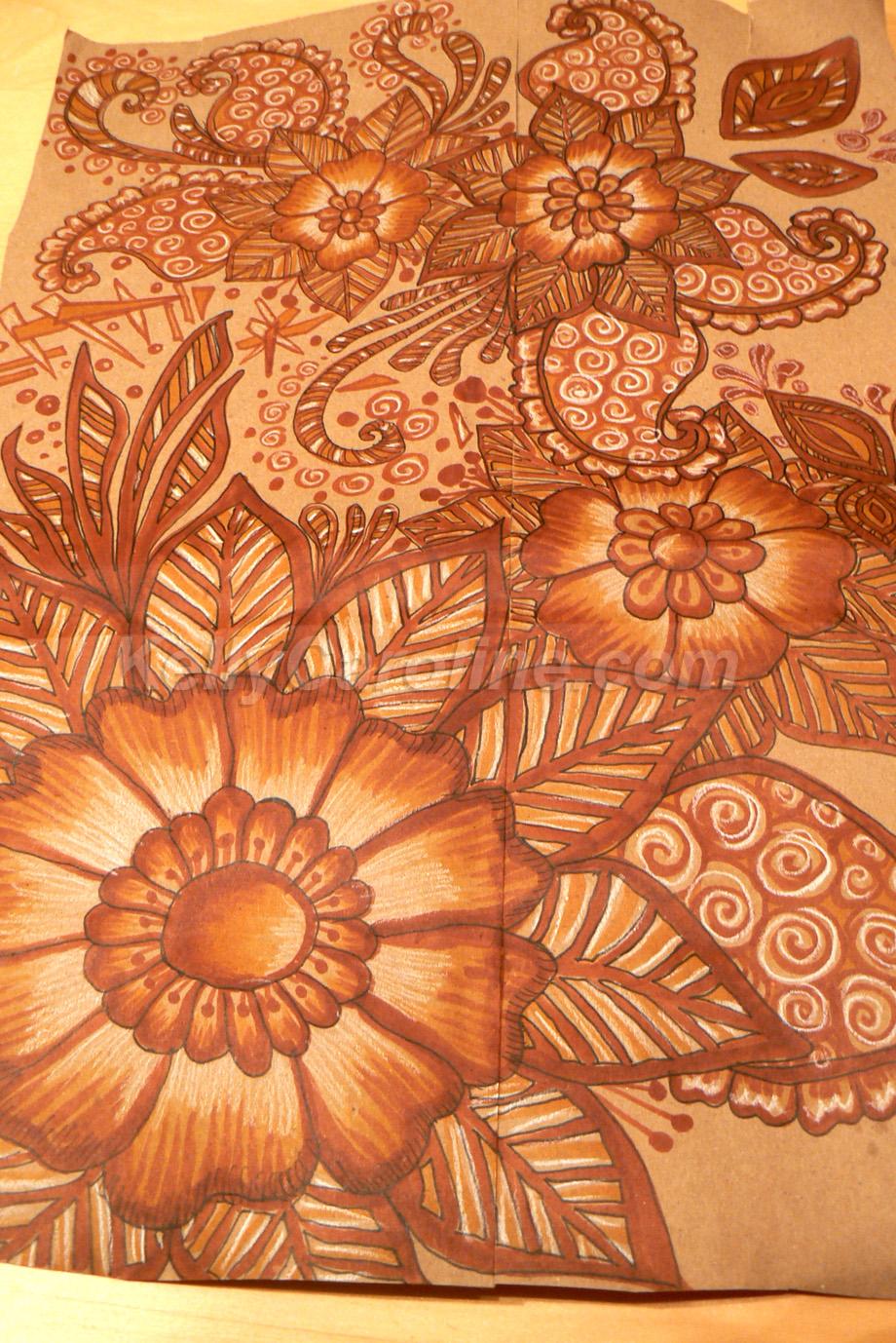 Henna Decorated Tray Kelly Caroline