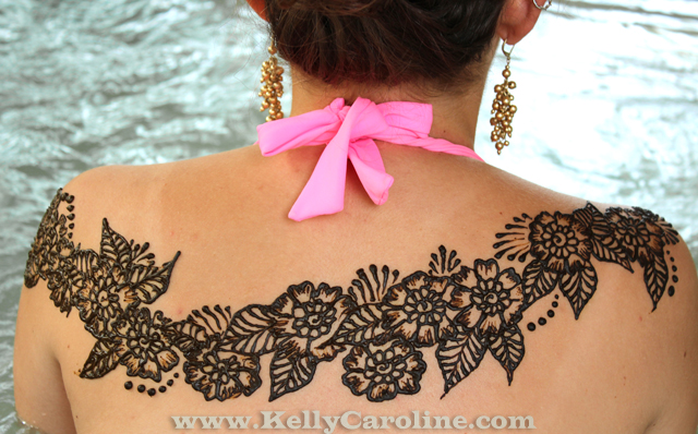Henna Back Design Michigan Henna Artist  Kelly Caroline