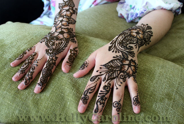 arabic henna, hands, design