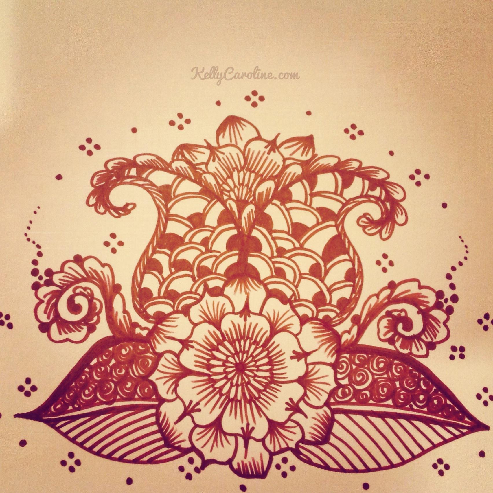 simple henna design Archives - Kelly Caroline Henna Michigan | Kelly ...