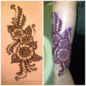 Michigan henna artist, Kelly Caroline, permanent tattoo, henna tattoo