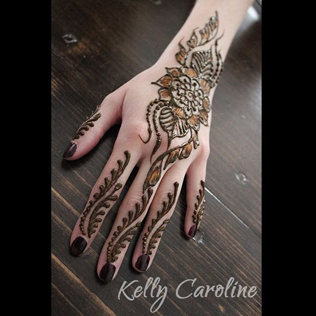 Party Henna designs by Kelly Caroline Henna tattoo artist in Michigan Henna Designs