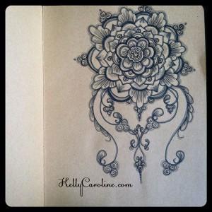 Drawn henna tattoo design mandala ,  henna designs for tattoos