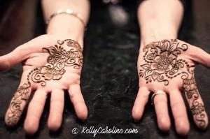 Henna on hands for wedding - Arabic style henna designs