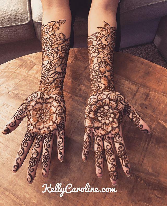 Here is the henna for a winter wedding Mehndi Party in Ann Arbor last night Kelly@kellycaroline.com