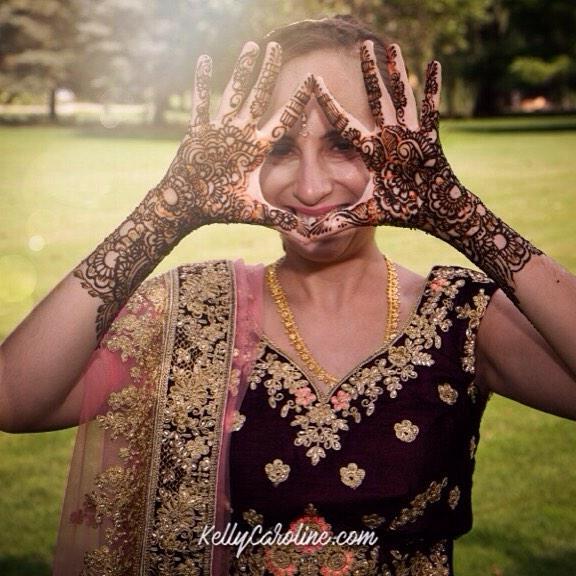 Being cute with your wedding mehndi ! . . . Photo by Lance Burghardt Photography of Ann Arbor . Kelly@kellycaroline.com #henna #hennas #hennaartist #kellycaroline #michigan #michiganartist #dearborn #southasianbride #southasianwedding #indianwedding #desi #weddinghenna #dearbornheights #mehndi #mehndidesign #canton #tattoos #ink #hennadesign #hennatattoo #hennatattoos #flowers #yoga #yogi #mandala #desiwedding #annarbor #annarbormichigan #mehndi