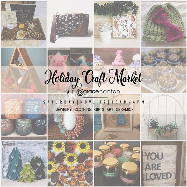 So very excited about the @holiday_market_at_grace_canton Nov 17th ! I can't believe it is so soon! Please come and check out the food trucks, baked goods, gifts, face painting, and photo booth with two adorable bunnies. I'll be there with my new #succulent planters I made - first market they will be available! . . . #handmadeinMichigan #michigan #michiganartists #craftmarket #ypsilanti #ferndale #annarbor #ypsi #a2 #detroit #michiganawesome #plymouth #craft #makers #gracecanton #graceannarbor #michigan #holidaycrafts #shoplocal #smallbusiness #smallbusinessowner