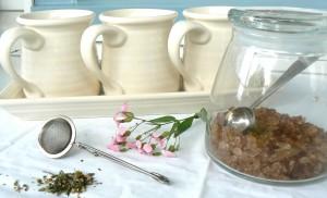 tea set, loose leaf tea, sugar, gift, katie brown, mugs, meijer