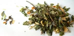 chamomile, tea, set, tea set, leaves, loose leaf