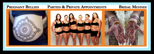 Kelly Caroline, Available for Pregnant Bellies, Parties and Private Appointments, and Bridal Mehndi