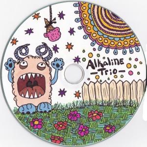 alkaline trio, cd label,drawing, monster, ice cream cone
