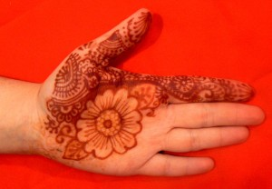 henna flower palm paisley, two tone