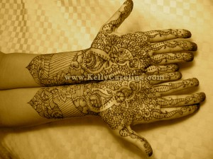 Fatima bridal henna hands and arms, indian henna pattern