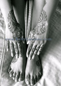 Fatima bridal henna hands and arms, indian henna pattern, tops of hands