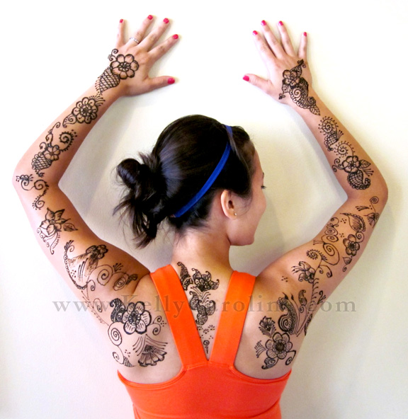 henna, kelly caroline, ypsilanti, michigan, flower, henna body art, designs, paisley