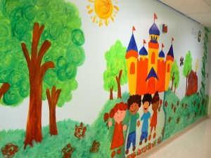 kids mural, childrens center, detroit, michigan