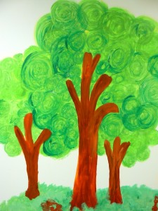 trees, mural, childrens center, detroit, michigan