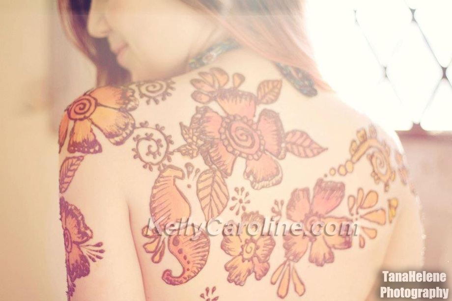 henna on back, henna tattoo, artist michigan