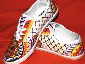 Henna clothing, Henna tennis shoes, hand painted