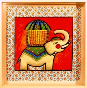 colorful indian elephant painting