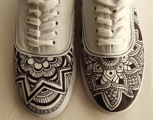 henna shoes, custom design
