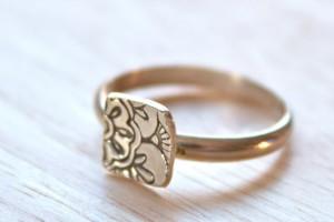 henna ring, silver