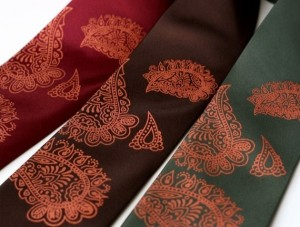 henna clothing, henna ties, wedding