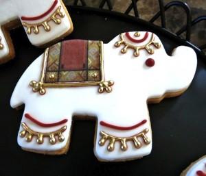 henna wedding favors, cookies, elephant