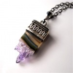 amethyst, crystal, necklace