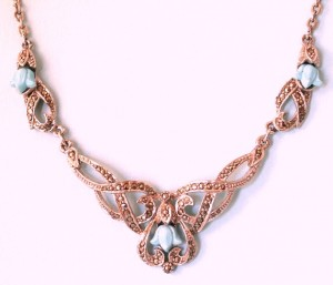 turquoise, art deco, necklace