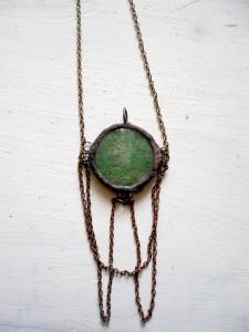 green moss pendant
