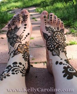 Henna Feet Designs