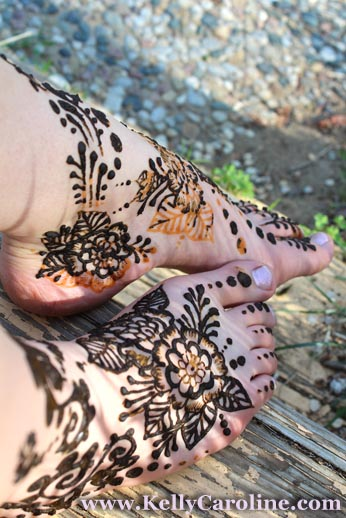 bridal henna, henna feet design