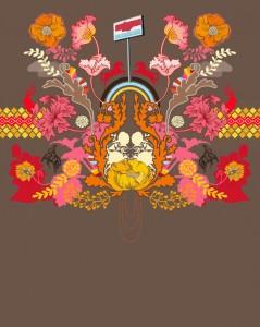 misha blaise, embroidery print
