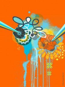 misha blaise, flower print