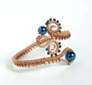 peacock, statement bracelet