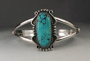turquoise, silver bracelet, cuff