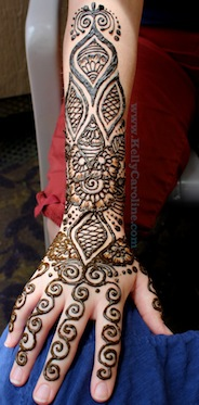 indian henna, arm design
