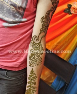 Manly Tribal Henna Tattoo