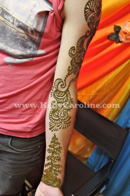 tribal henna tattoo, man henna design, tribal tattoo on arm