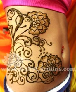 Floral Henna Tattoos