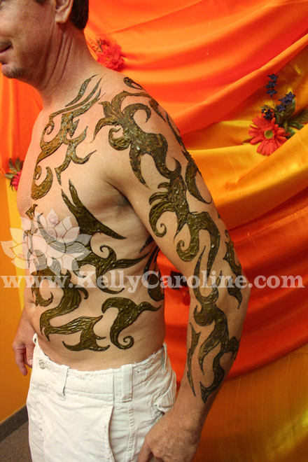 tribal tattoo, henna tribal, manly henna design