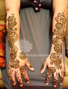 bridal henna on arms, henna in michigan