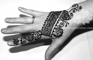 Indian henna hand design