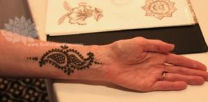 paisley henna tattoo