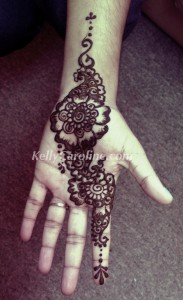 Bridal henna sample