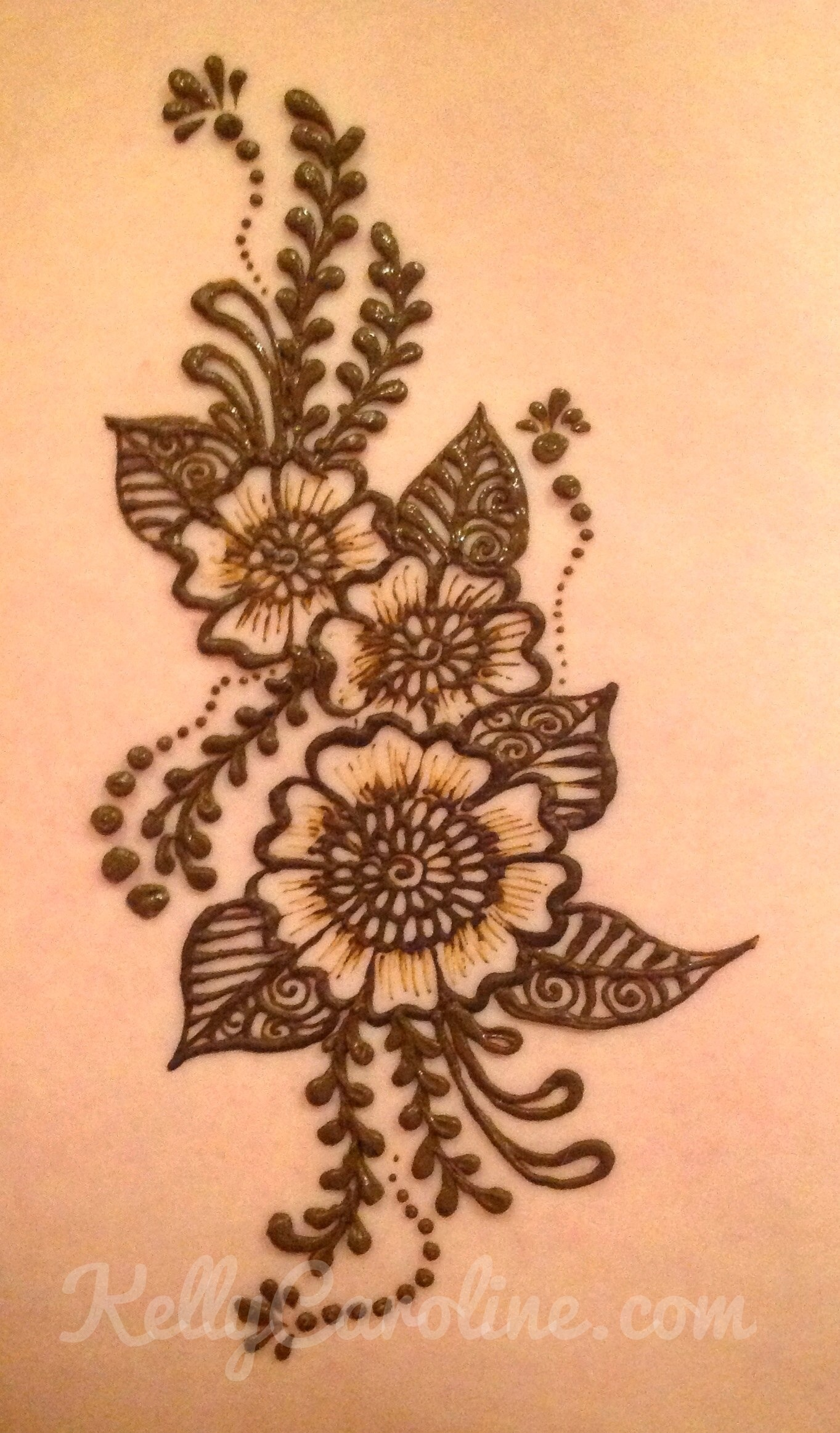Henna Flower Designs: Michigan Henna Tattoo Artist Kelly Caroline