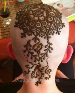 Henna crown design, henna for chemotherapy