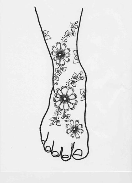 Henna Designs on Foot