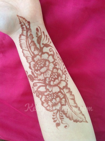 floral henna tattoo, henna tattoo michigan, henna tattoo design, kelly caroline